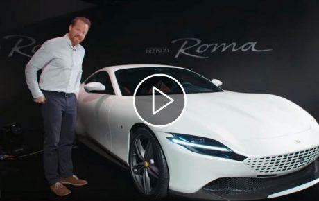 The launch of the new Ferrari Roma